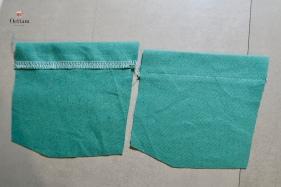 piquer les ourlets aux ouvertures de poches